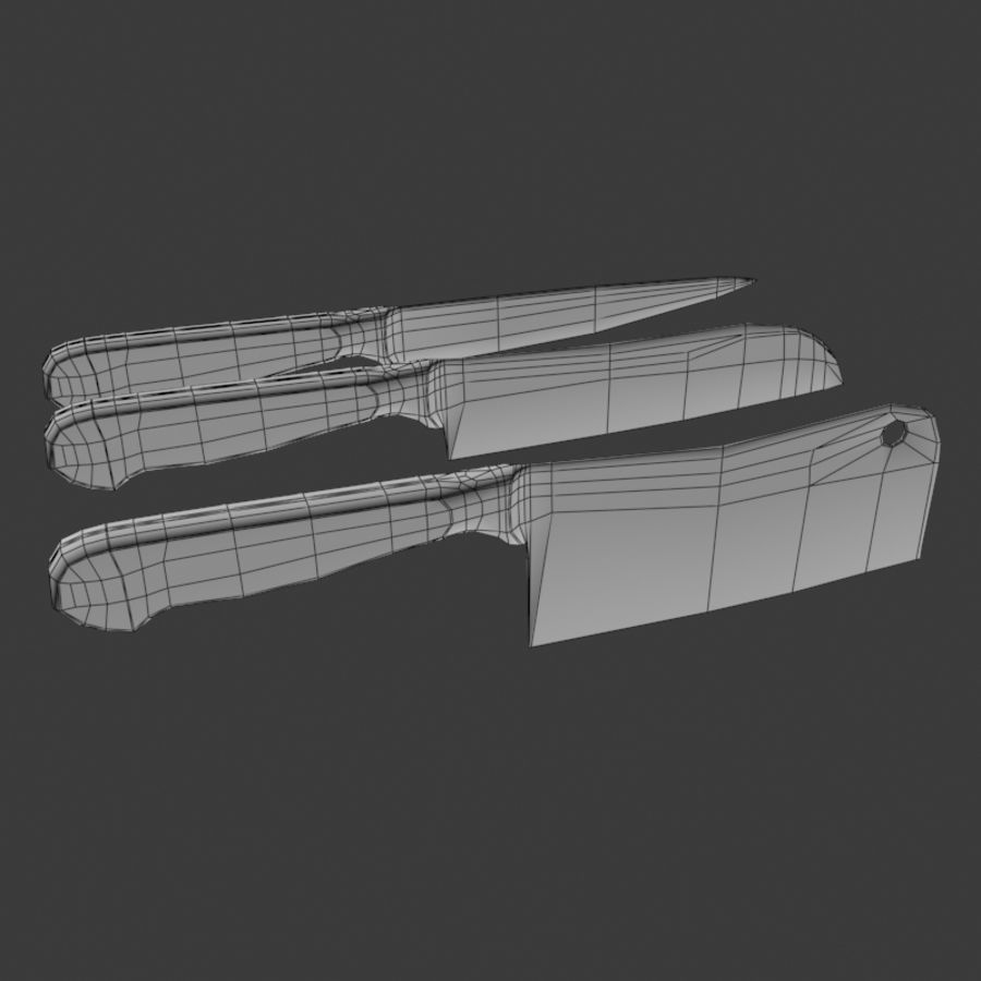 Knife royalty-free 3d model - Preview no. 6