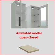 厨房家具垂直40厘米玻璃门 3d model