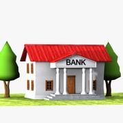 Cartoon Bank 1 3d model