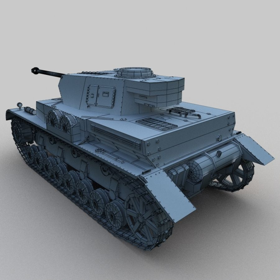 Panzer IV royalty-free 3d model - Preview no. 4