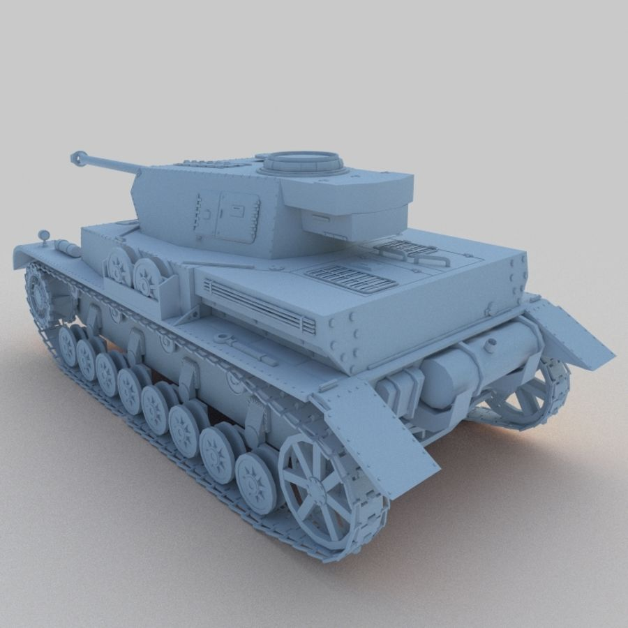 Panzer IV royalty-free 3d model - Preview no. 3