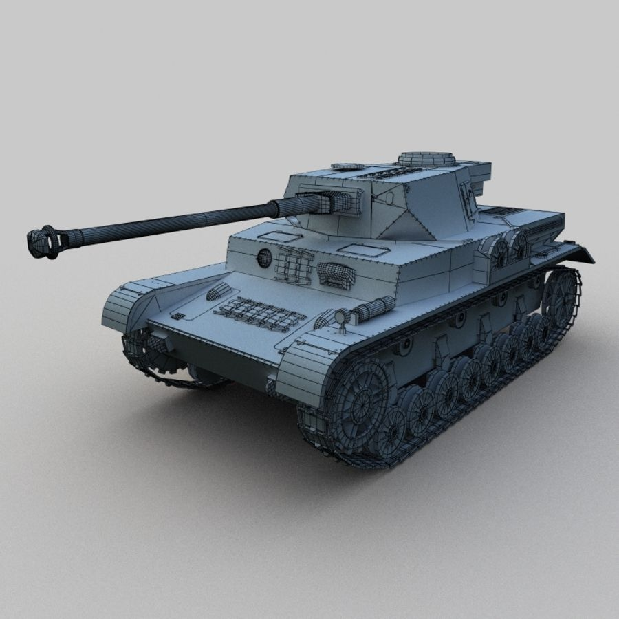 Panzer IV royalty-free 3d model - Preview no. 2