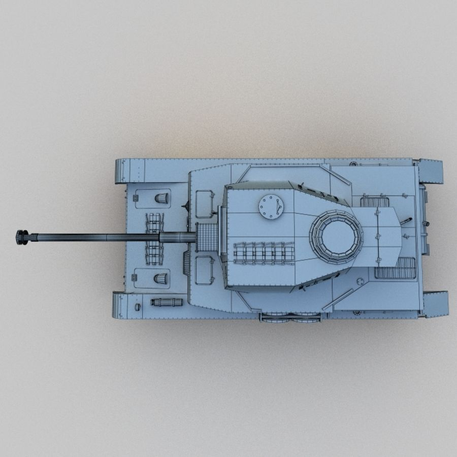 Panzer IV royalty-free 3d model - Preview no. 6