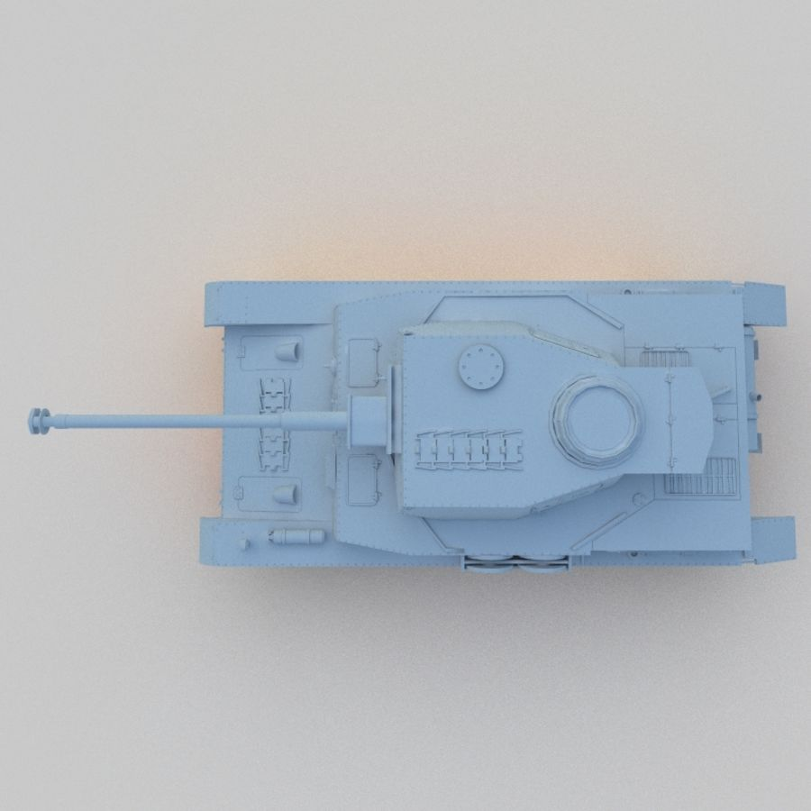 Panzer IV royalty-free 3d model - Preview no. 5