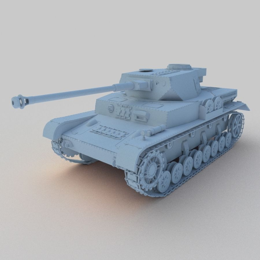 Panzer IV royalty-free 3d model - Preview no. 1