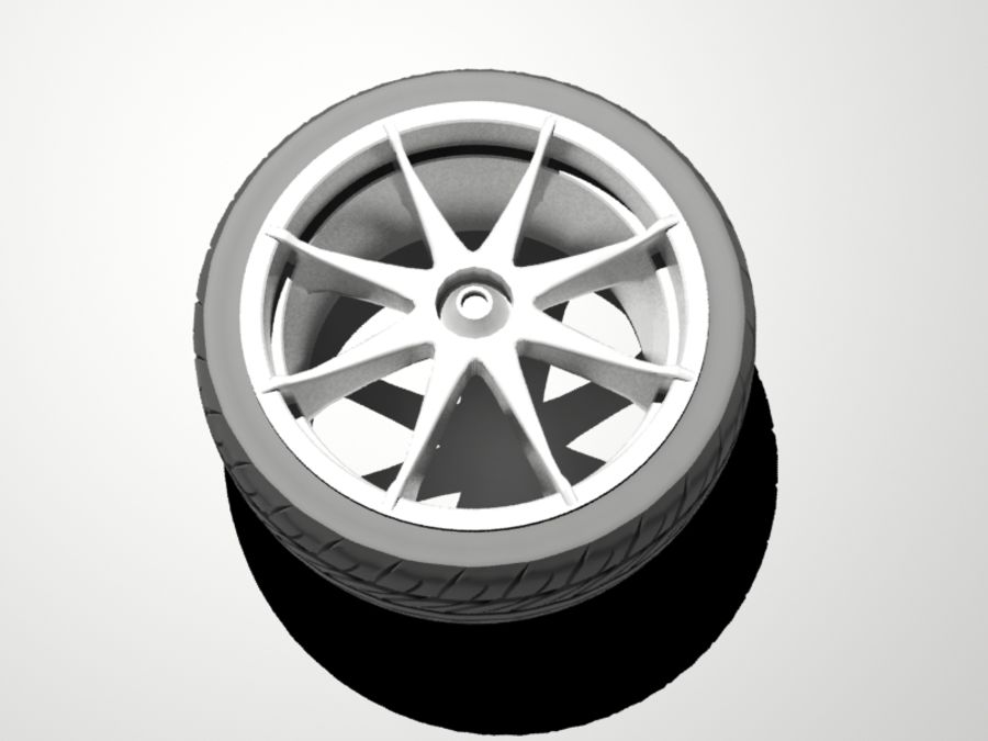 pneu de carro royalty-free 3d model - Preview no. 5