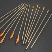 Wooden Arrow 3d model