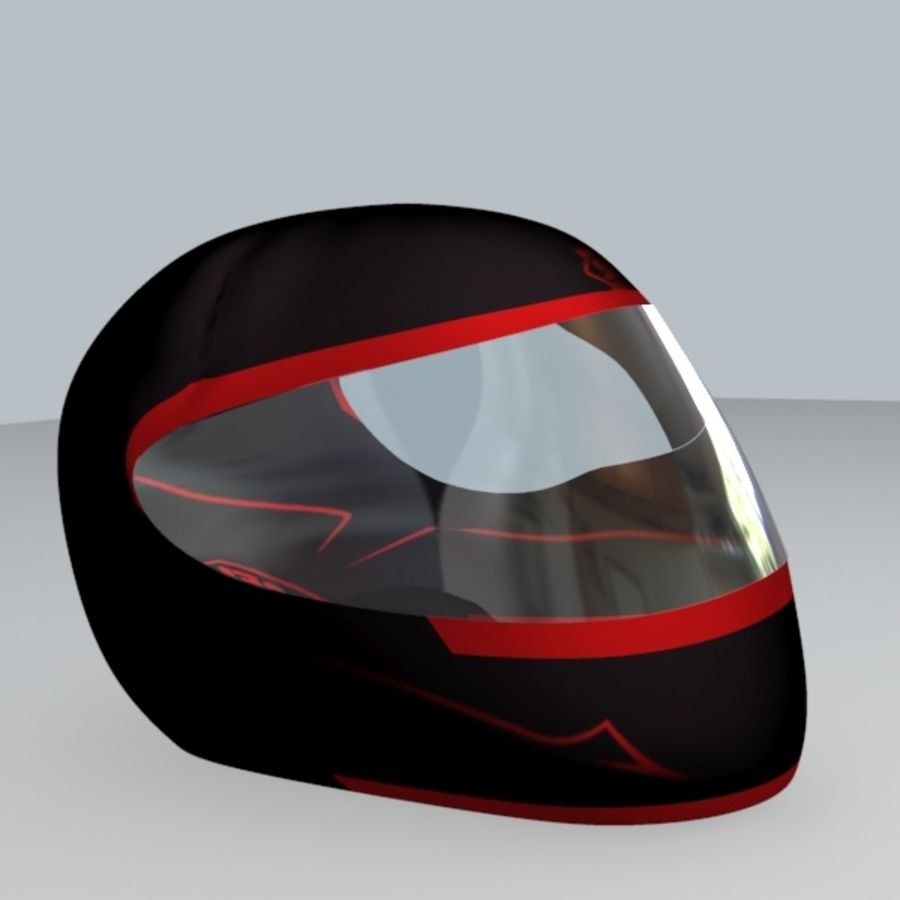 MOTORBIKE HELMET royalty-free 3d model - Preview no. 5