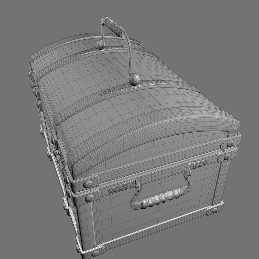 Chest Wood and Metal royalty-free 3d model - Preview no. 15