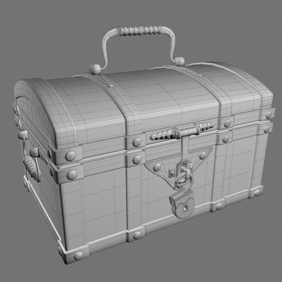 Chest Wood and Metal royalty-free 3d model - Preview no. 9