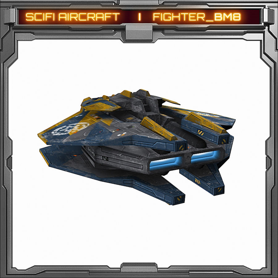 SciFi_BM8 royalty-free 3d model - Preview no. 5