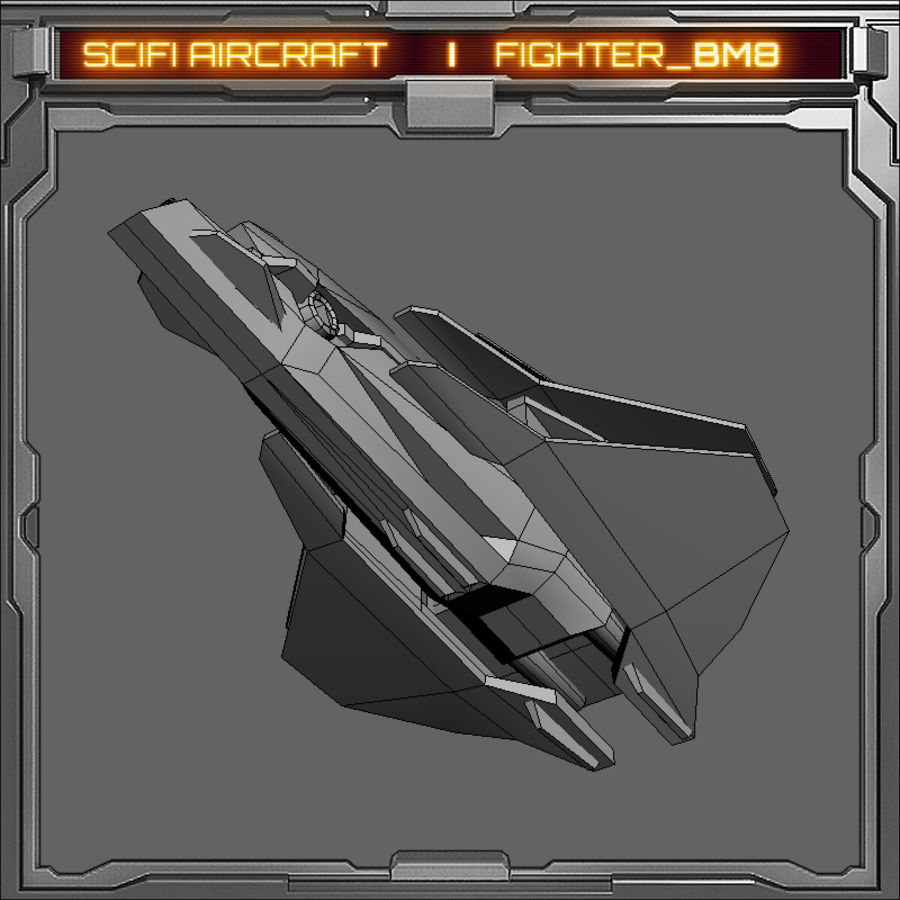 SciFi_BM8 royalty-free 3d model - Preview no. 7