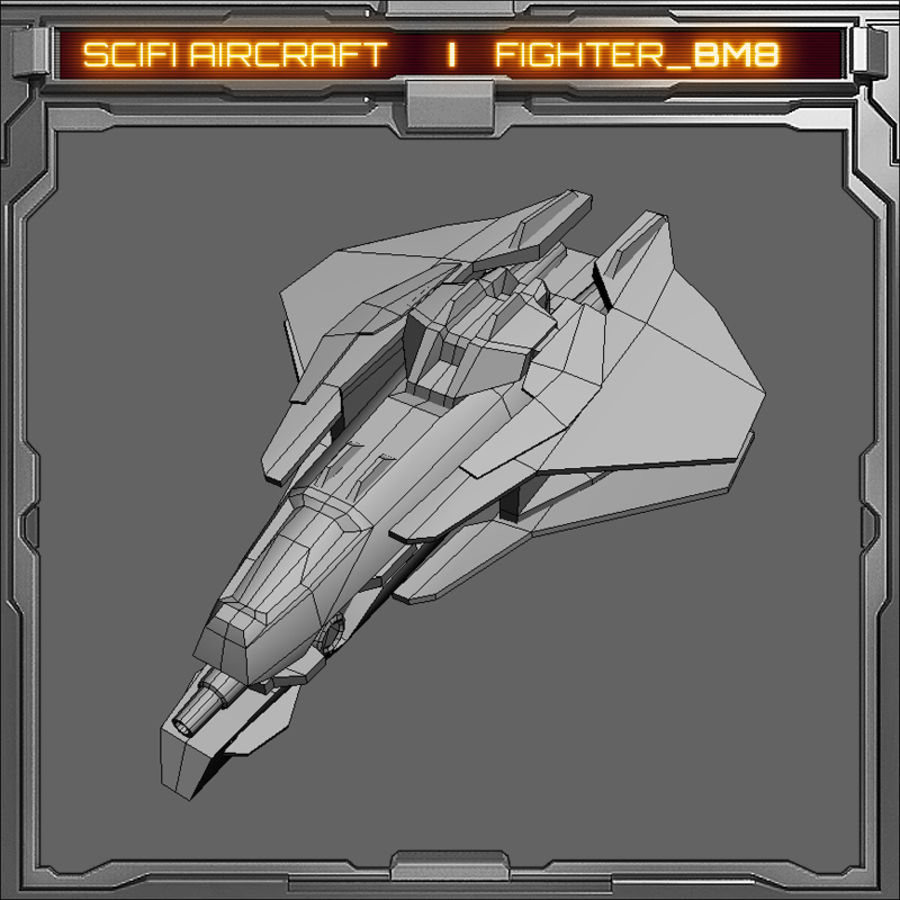 SciFi_BM8 royalty-free 3d model - Preview no. 6