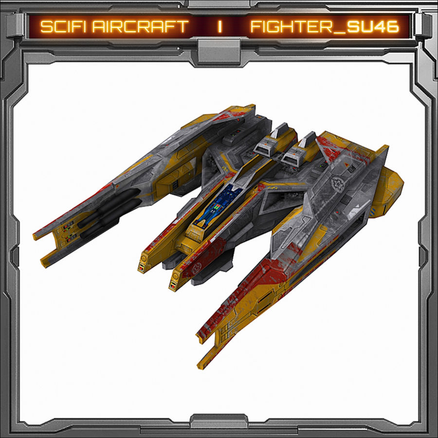 SciFi SU_46 royalty-free 3d model - Preview no. 2