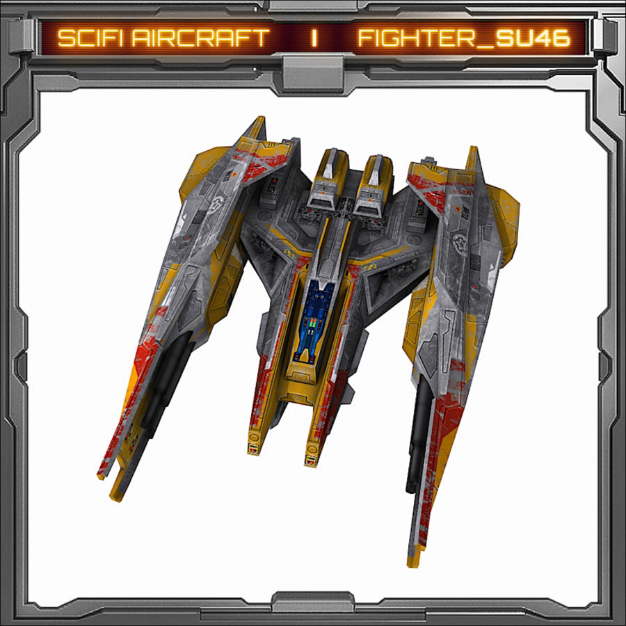 SciFi SU_46 royalty-free 3d model - Preview no. 3