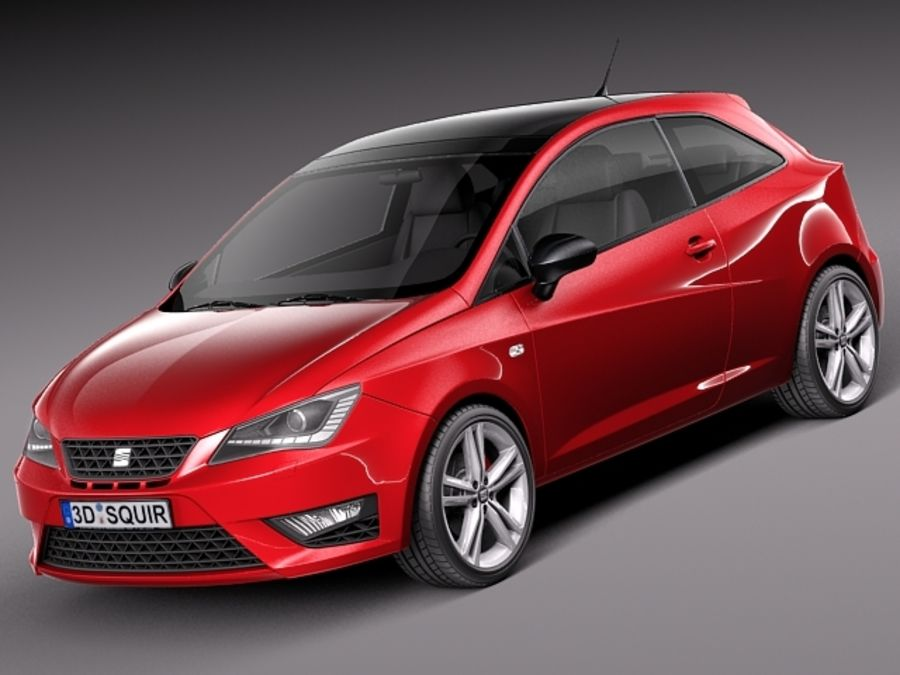 Chłodny Seat Ibiza 3-door 2013 3D Model $99 - .obj .max .lwo .fbx .c4d SO42