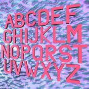 Simple Alphabet 3D 3d model