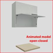 Kitchen furnitures up 90 cm doors orizontal 2 3d model