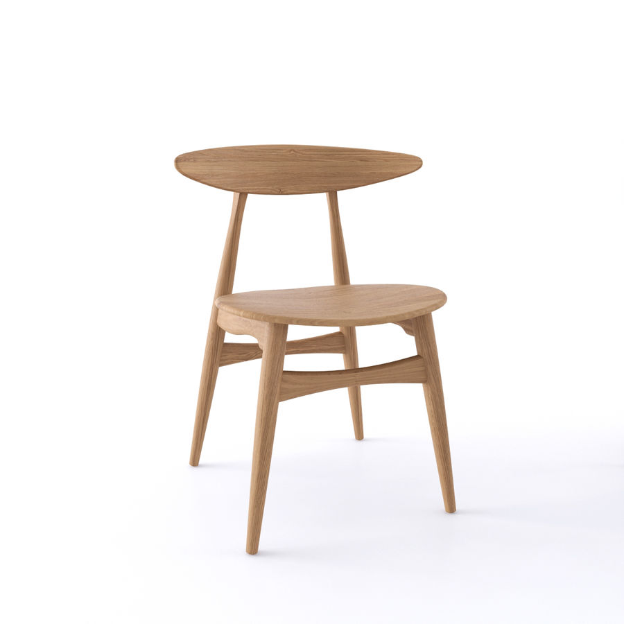 CH33 Chair by Hans Wegner royalty-free 3d model - Preview no. 3