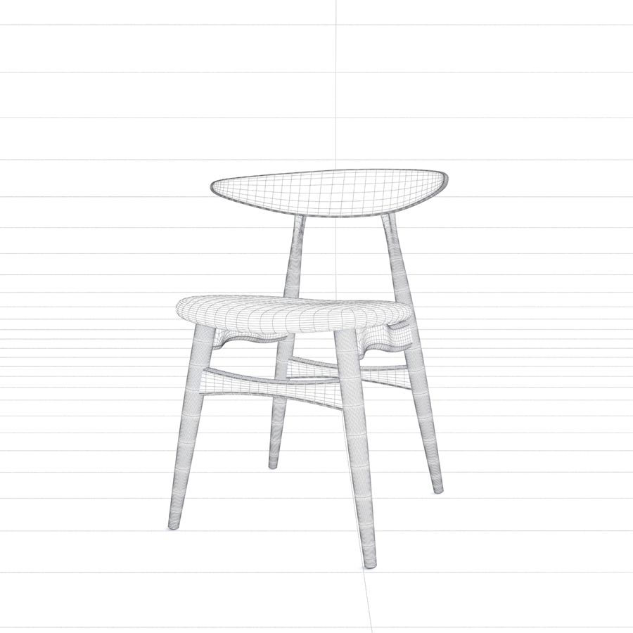 CH33 Chair by Hans Wegner royalty-free 3d model - Preview no. 8