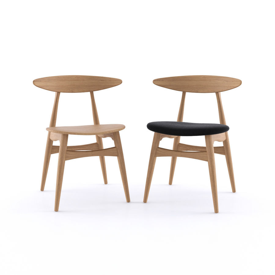 CH33 Chair by Hans Wegner royalty-free 3d model - Preview no. 2