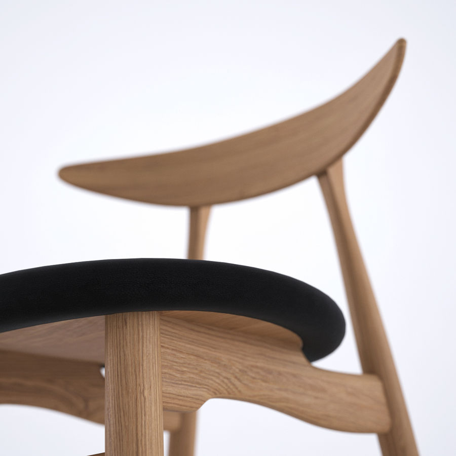 CH33 Chair by Hans Wegner royalty-free 3d model - Preview no. 6