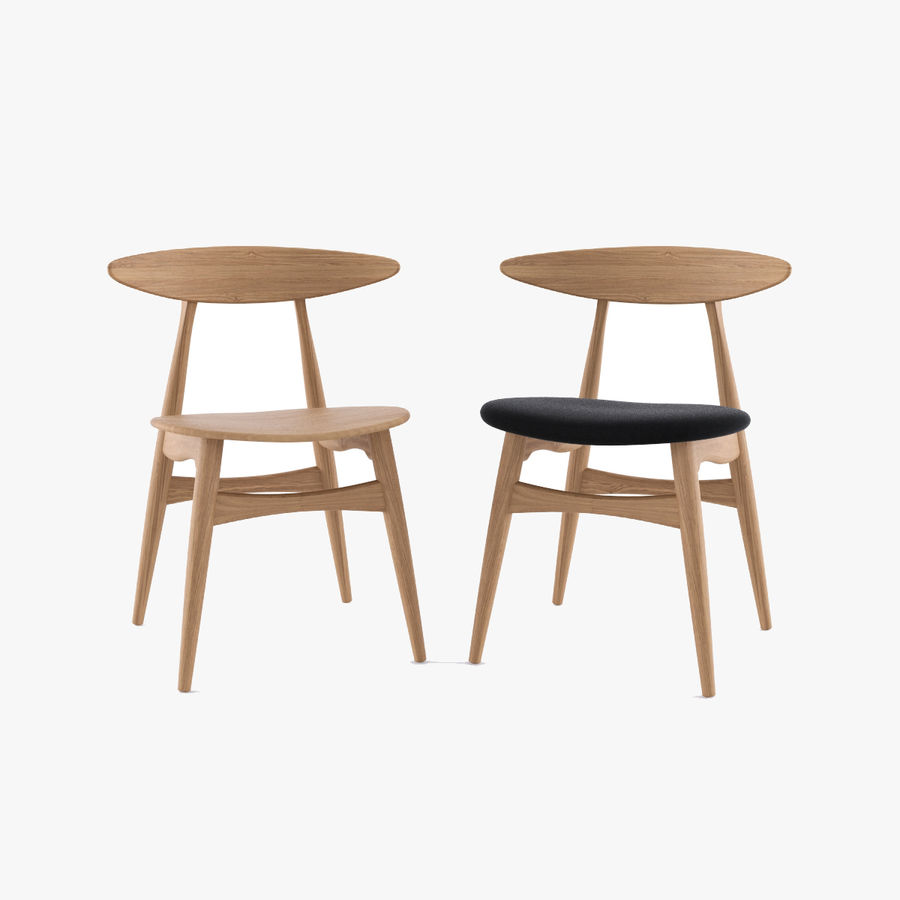 CH33 Chair by Hans Wegner royalty-free 3d model - Preview no. 1