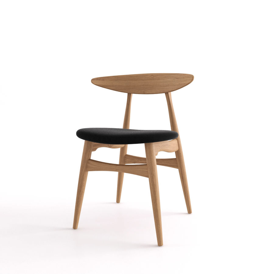 CH33 Chair by Hans Wegner royalty-free 3d model - Preview no. 4