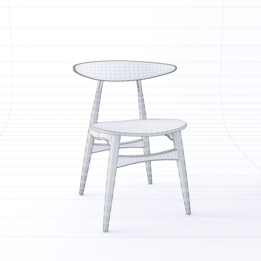 CH33 Chair by Hans Wegner royalty-free 3d model - Preview no. 7