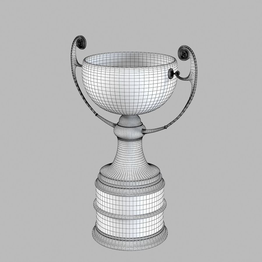 Winner Trophy royalty-free 3d model - Preview no. 5