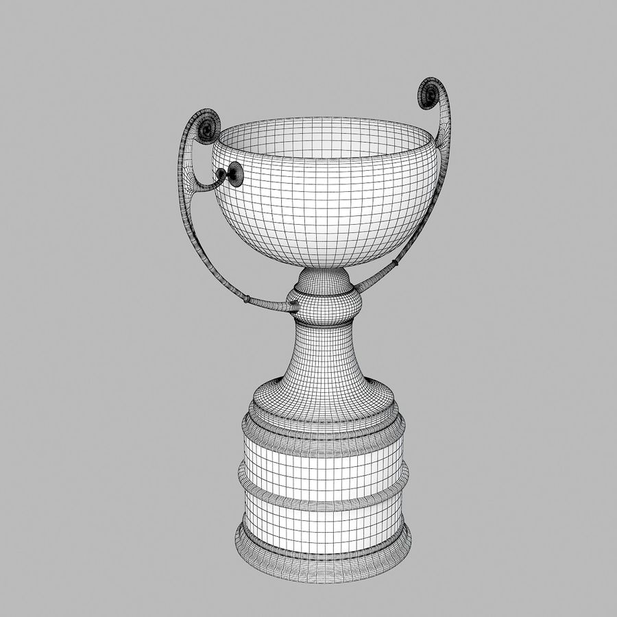 Winner Trophy royalty-free 3d model - Preview no. 4