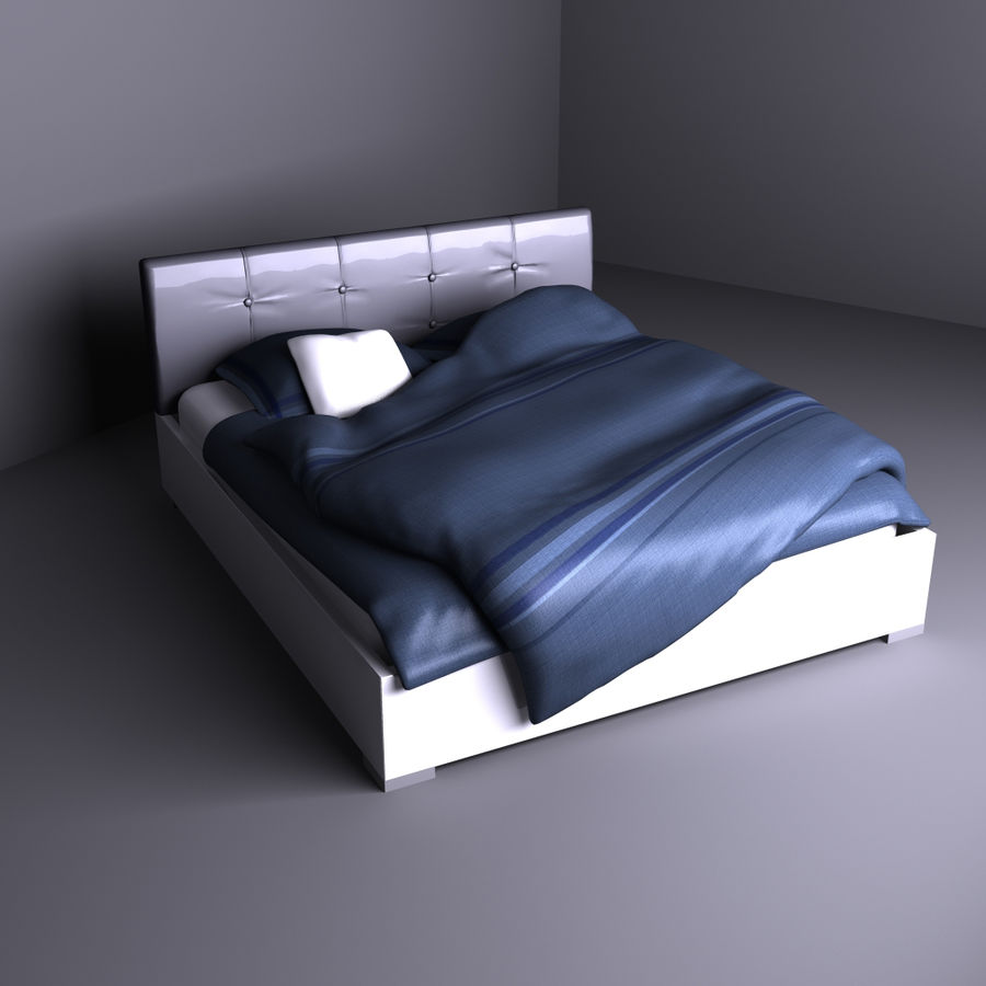 Bed royalty-free 3d model - Preview no. 1