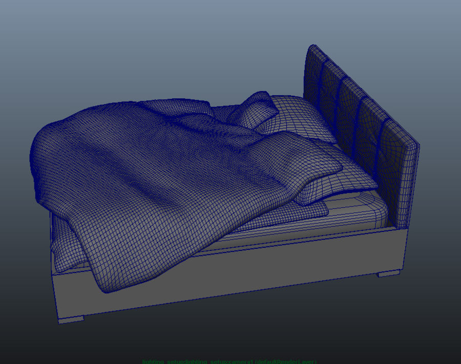 Bed royalty-free 3d model - Preview no. 5