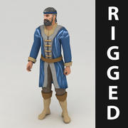 Lowpoly rigged worker model 3d model