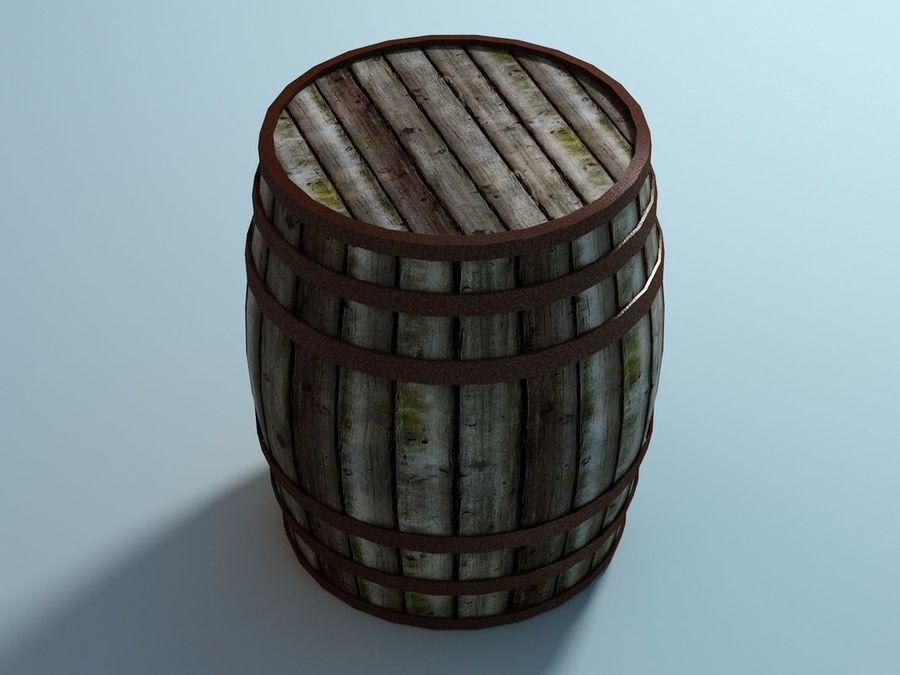 Wooden Barrel royalty-free 3d model - Preview no. 3