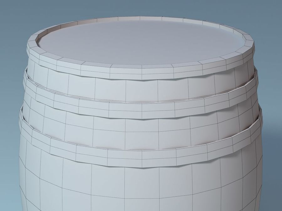 Wooden Barrel royalty-free 3d model - Preview no. 5