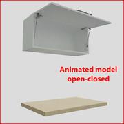 厨房家具向上90厘米门orizontal 1 3d model