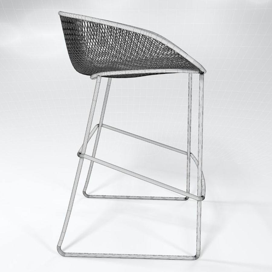 Patio Bar Stool royalty-free 3d model - Preview no. 5