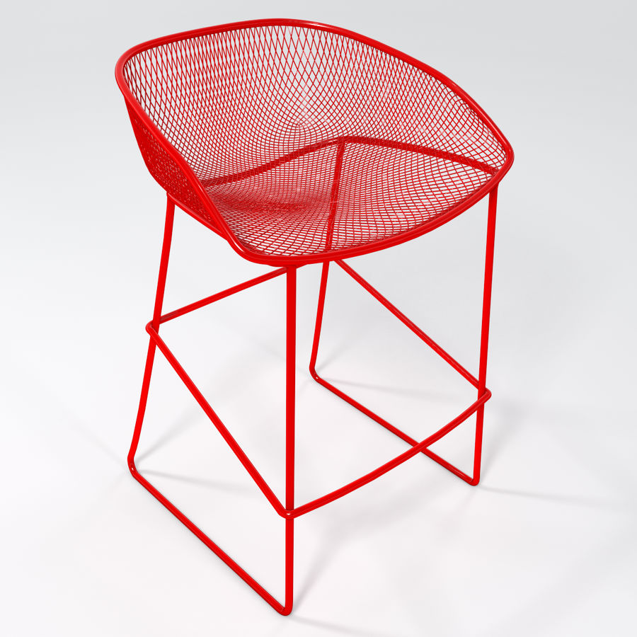 Patio Bar Stool royalty-free 3d model - Preview no. 1