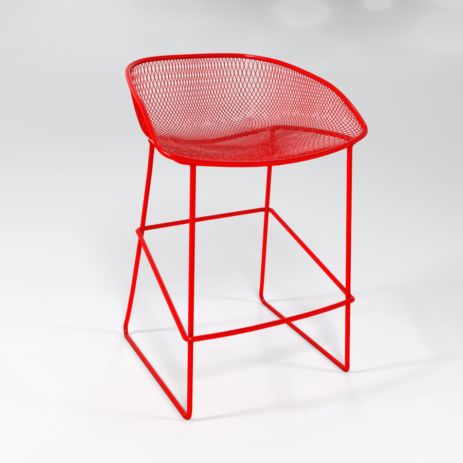 Patio Bar Stool royalty-free 3d model - Preview no. 4