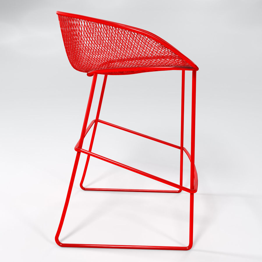Patio Bar Stool royalty-free 3d model - Preview no. 2