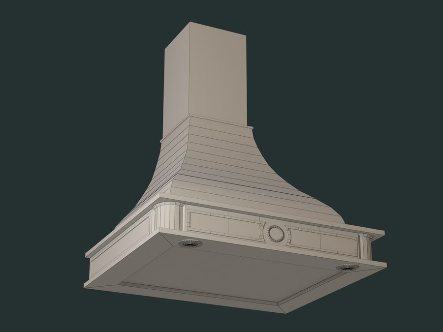 Hood royalty-free 3d model - Preview no. 5