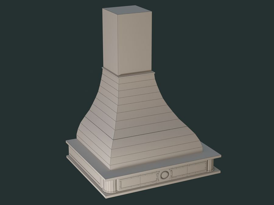 Hood royalty-free 3d model - Preview no. 6