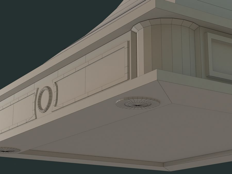 Hood royalty-free 3d model - Preview no. 7