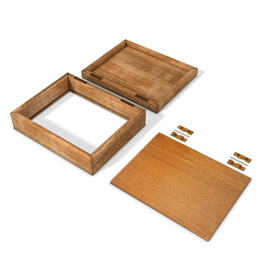 wooden box royalty-free 3d model - Preview no. 5