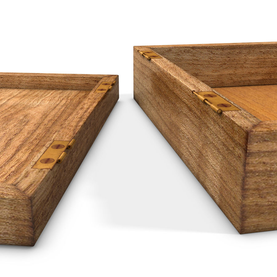 wooden box royalty-free 3d model - Preview no. 9
