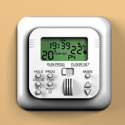 Room thermostat 3d model