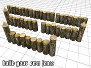 Wooden_Wall_Fence 3d model