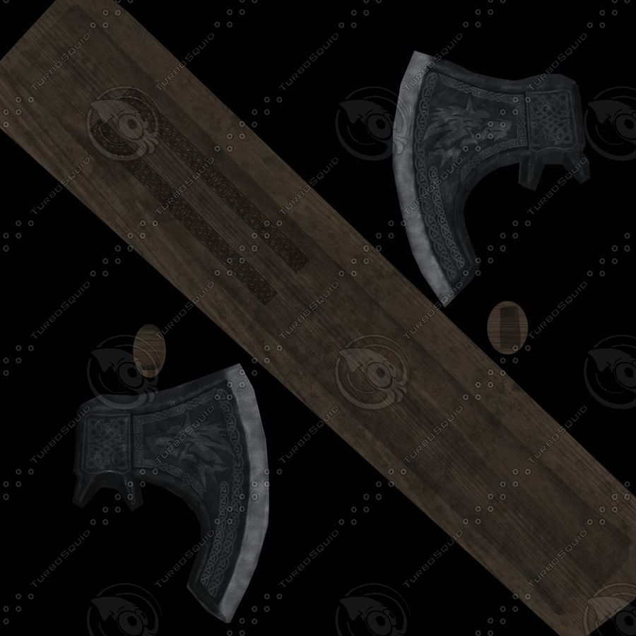 Axe battle royalty-free 3d model - Preview no. 6