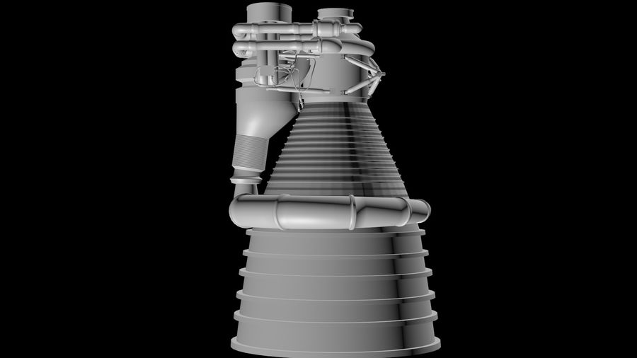 Saturn 5 F1 Engine royalty-free 3d model - Preview no. 3